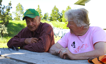 Sid and Nancy Johnson at their home outside Baker City.